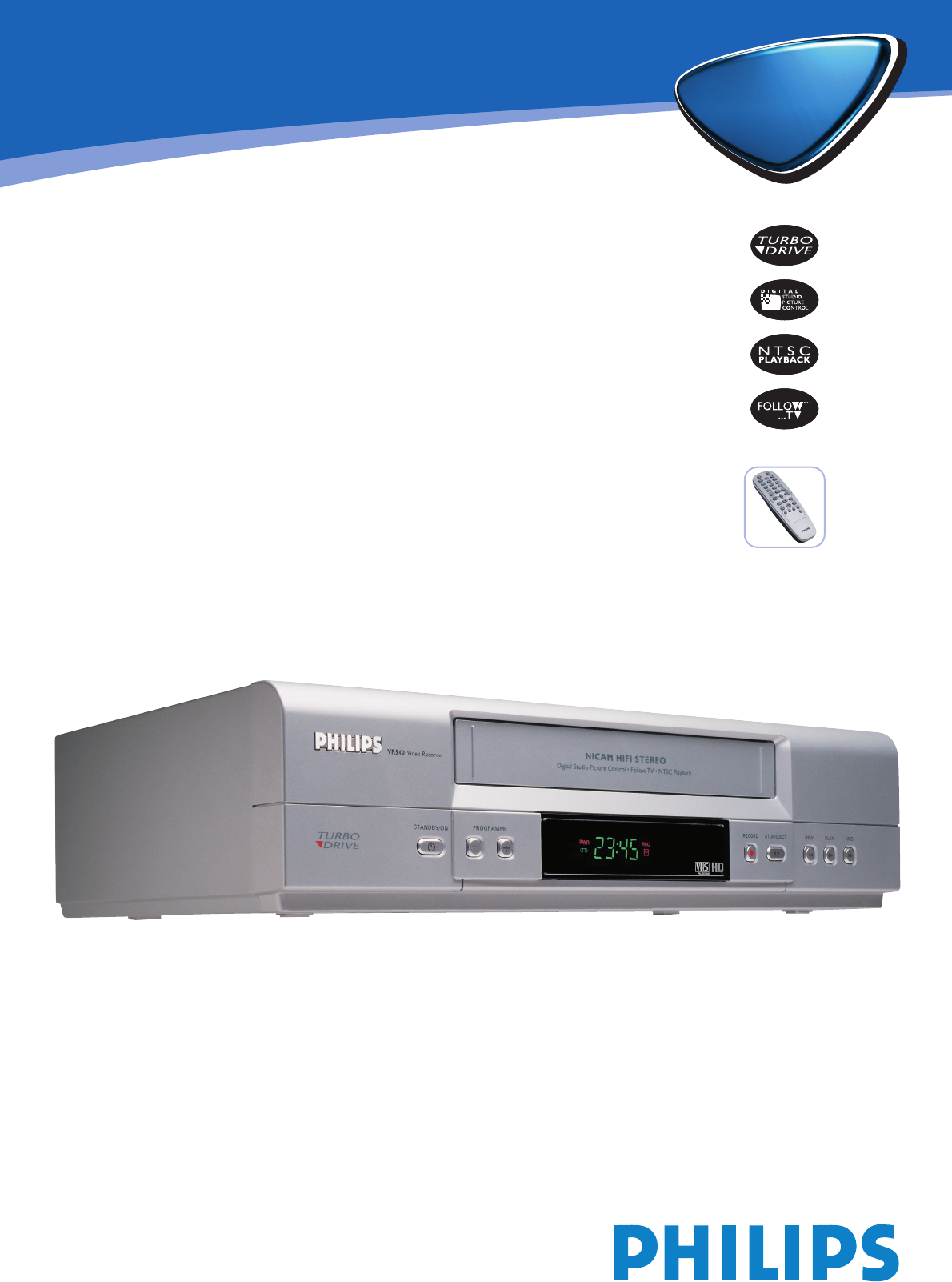 philips dvr vr 540 user guide manualsonline com rh tv manualsonline com Philips Universal Remote SRP2003 27 Manual Philips Product Manuals
