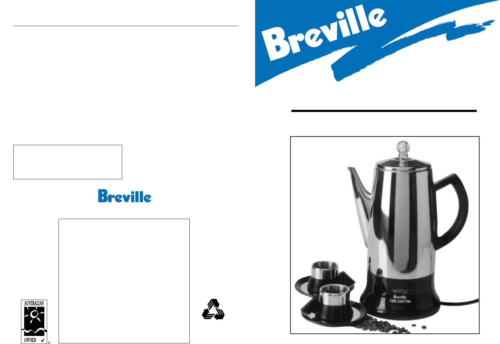 breville coffee maker cleaning instructions