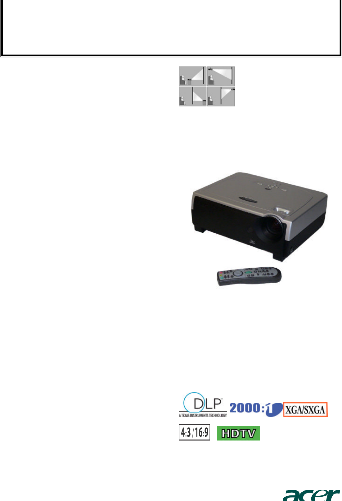 acer projector pd723p user guide manualsonline com rh manualsonline com Acer Drivers Acer Aspire One Manual