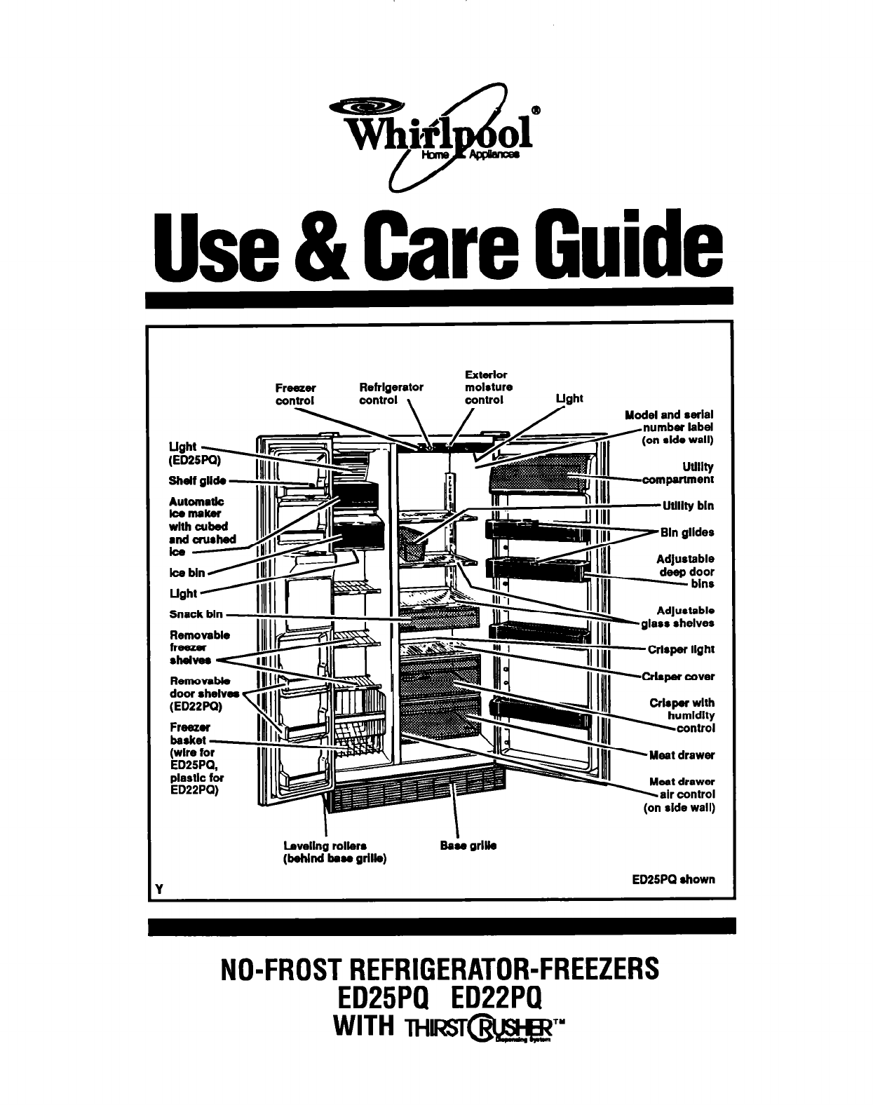 Whirlpool Refrigerator Ed22pq User Guide