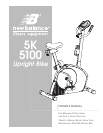 5200 5k new balance upright bike