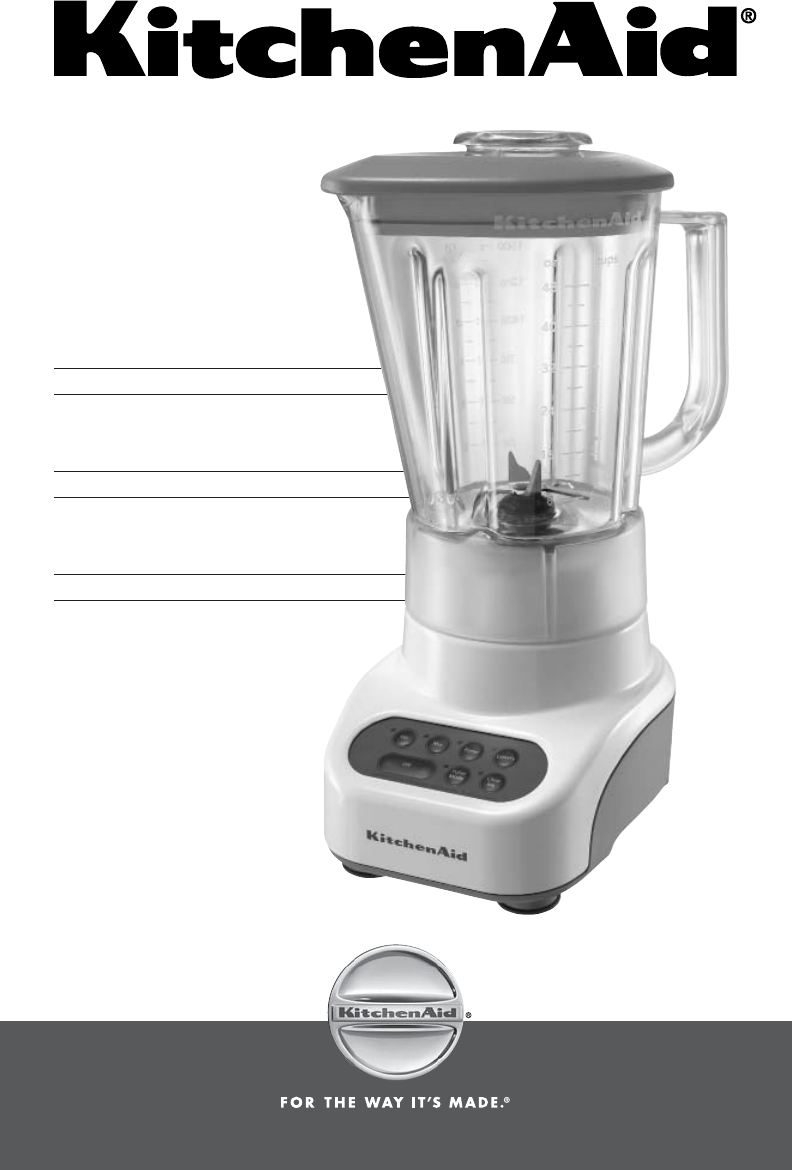 kitchenaid blender ksb465 user guide