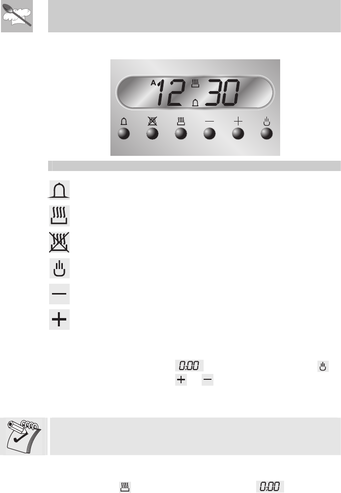 smeg oven clock instructions