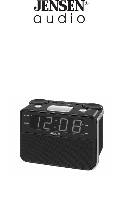 jensen clock radio jcr 255 user guide. Black Bedroom Furniture Sets. Home Design Ideas