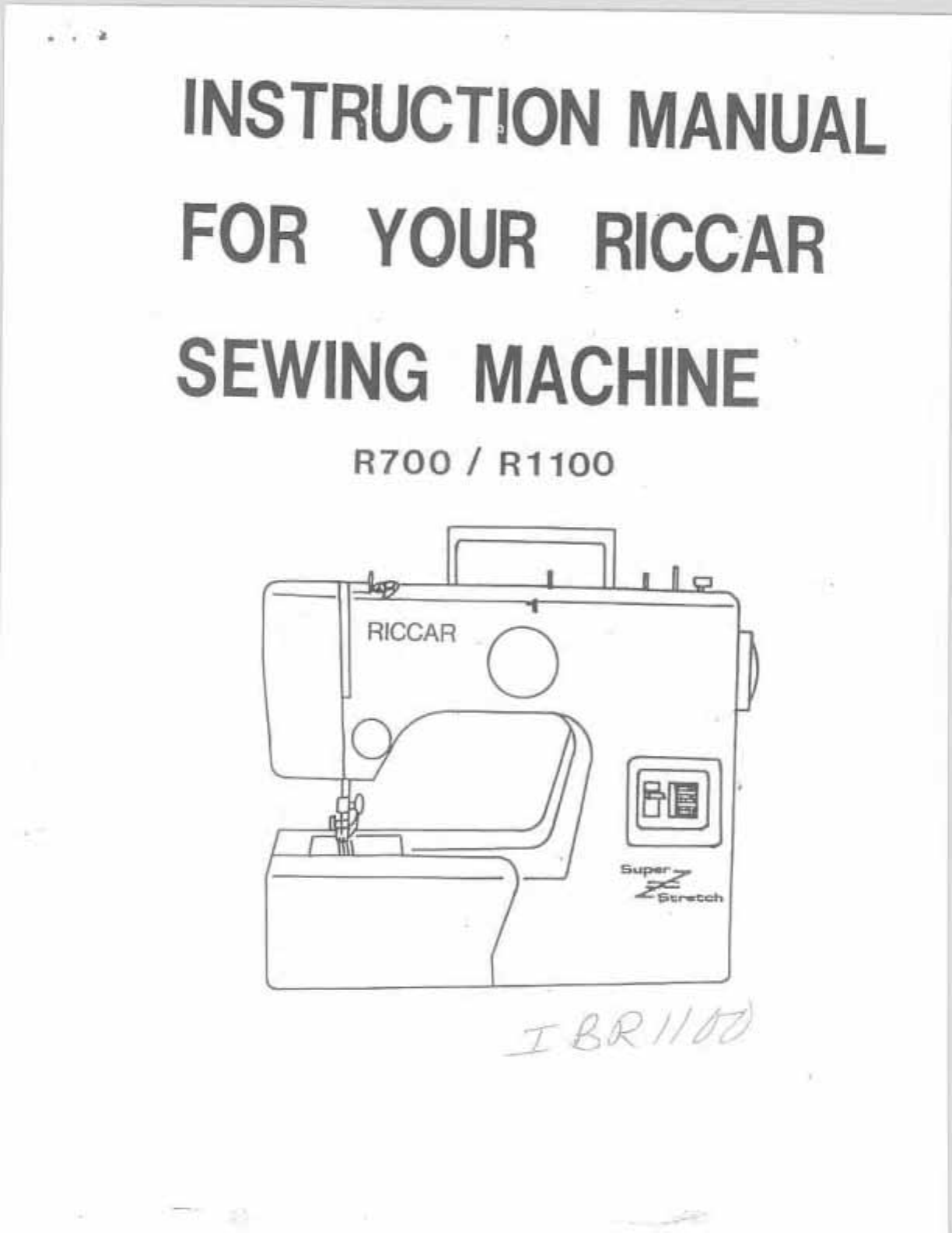 Riccar Vacuum Repair Manual Pictures