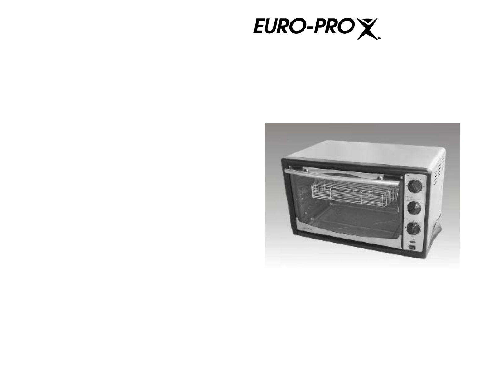 euro pro toaster to285 user guide manualsonline com rh kitchen manualsonline com Euro-Pro Shark Vacuum Euro-Pro Toaster Oven Manual
