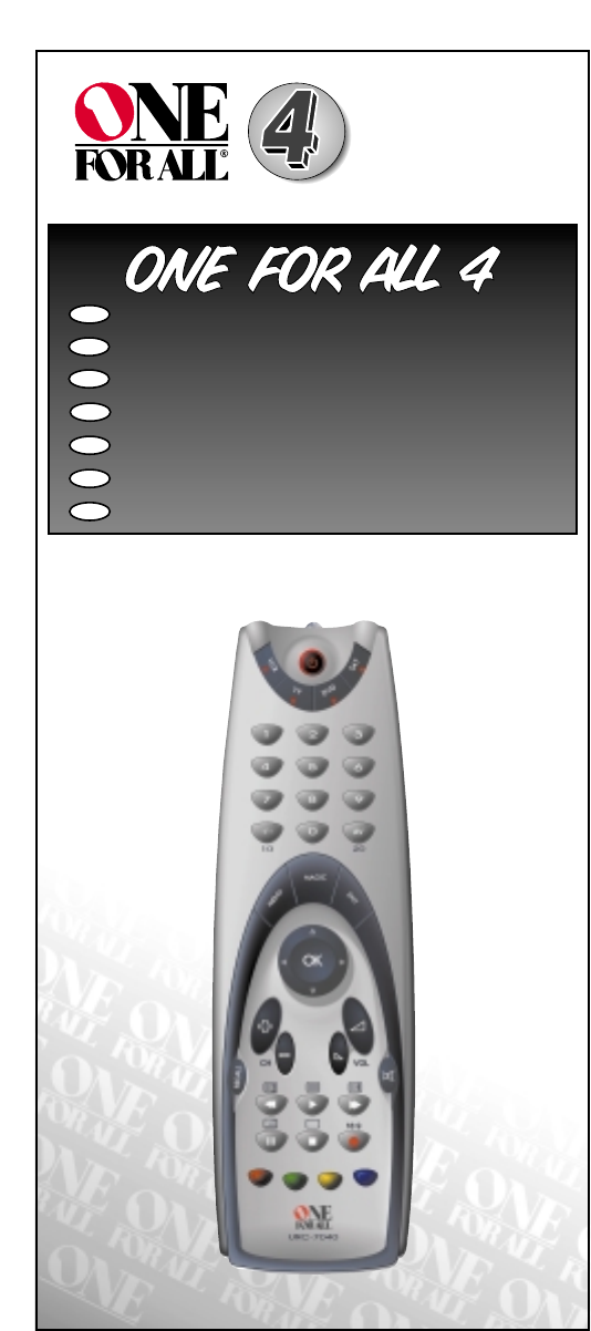 One For All Universal Remote Urc 7040 User Guide Manualsonline