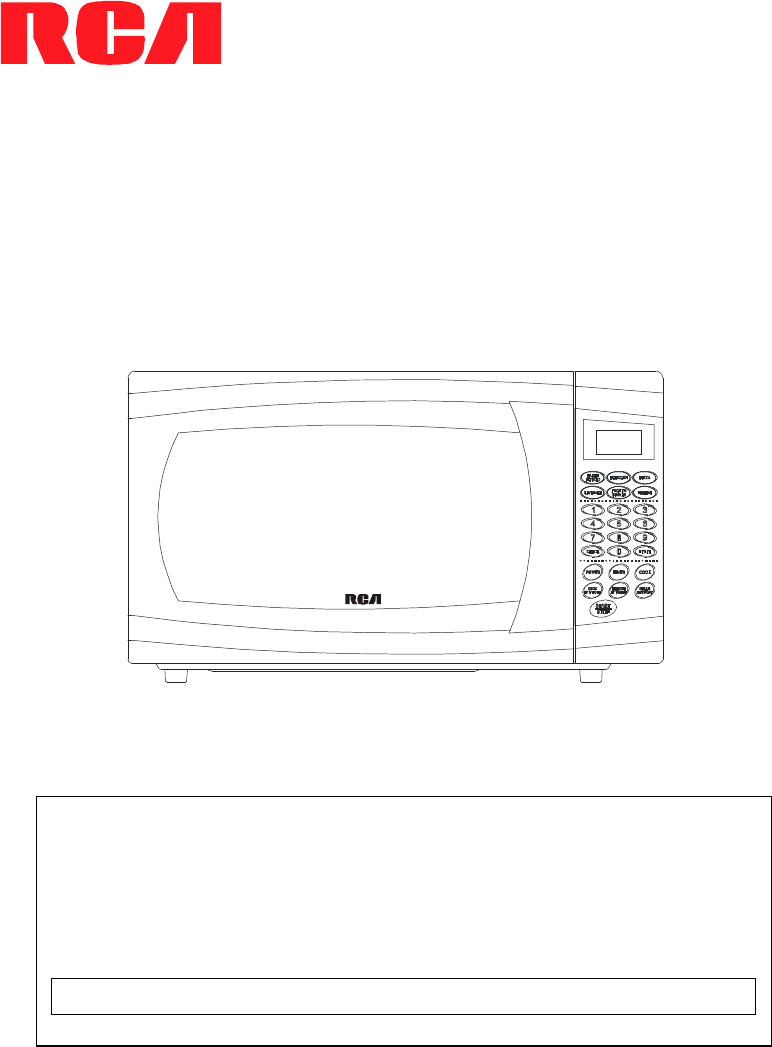 rca microwave oven rmw712 user guide. Black Bedroom Furniture Sets. Home Design Ideas