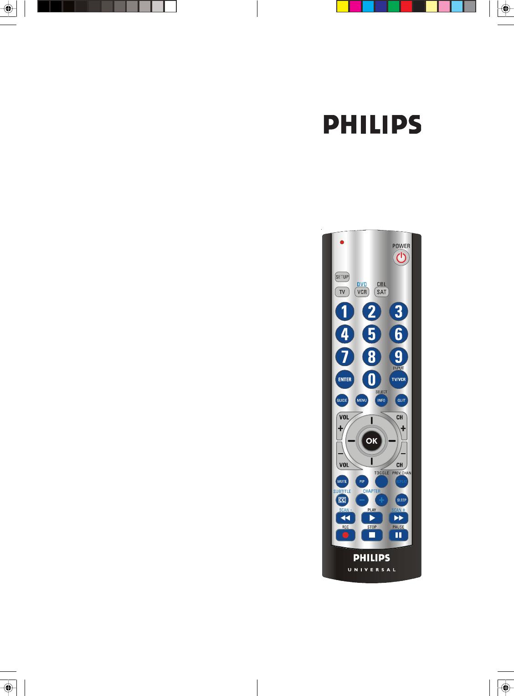 philips universal remote sru3003 27 user guide manualsonline com rh tv manualsonline com philips universal remote codes sru3003 Programming Philips Universal Remote Setup