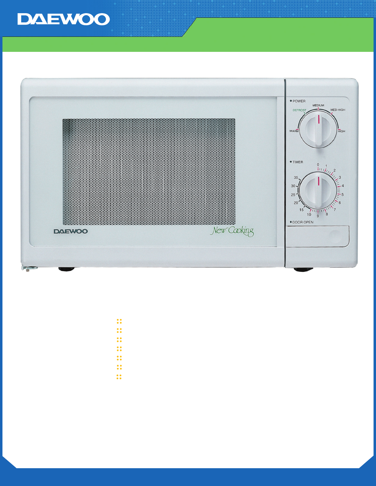 Daewoo Microwave Oven KOR-6115 User Guide | ManualsOnline.com