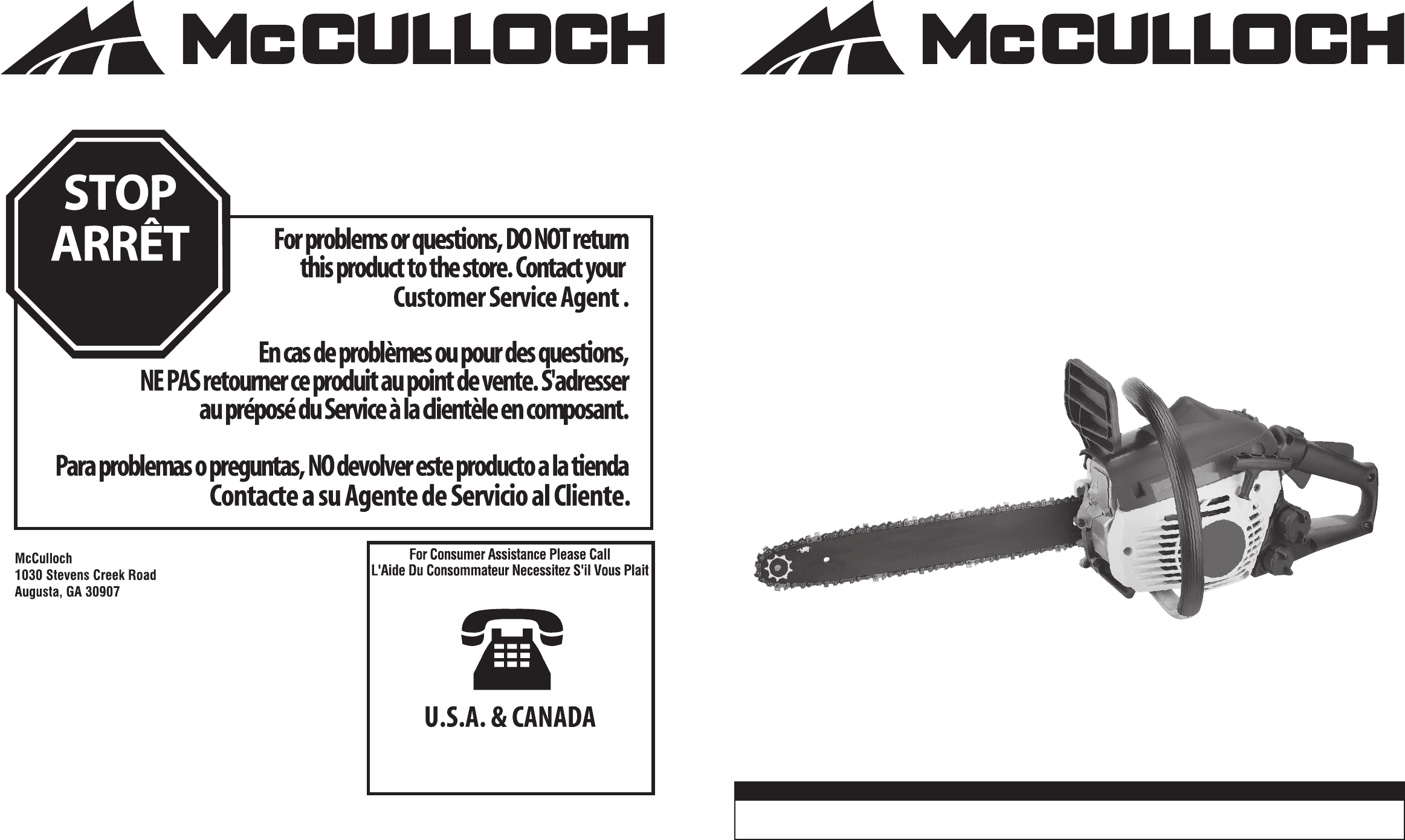 Mcculloch chainsaw mcc1635a user guide manualsonline greentooth Image collections
