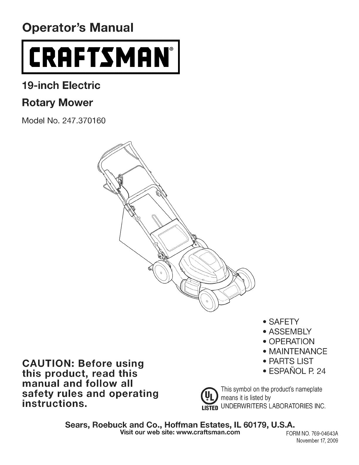 Craftsman Lawn Mower 37016 User Guide Manualsonlinecom Wiring Diagram For Farmall B
