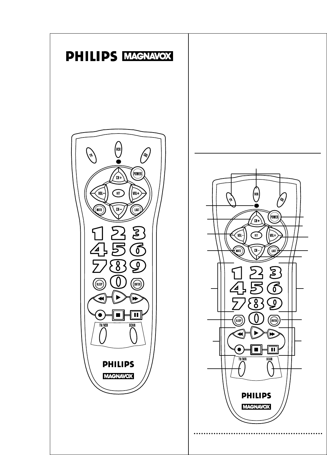 philips universal remote rem110 user guide manualsonline com rh tv manualsonline com philips magnavox universal remote cl010 manual philips magnavox remote control
