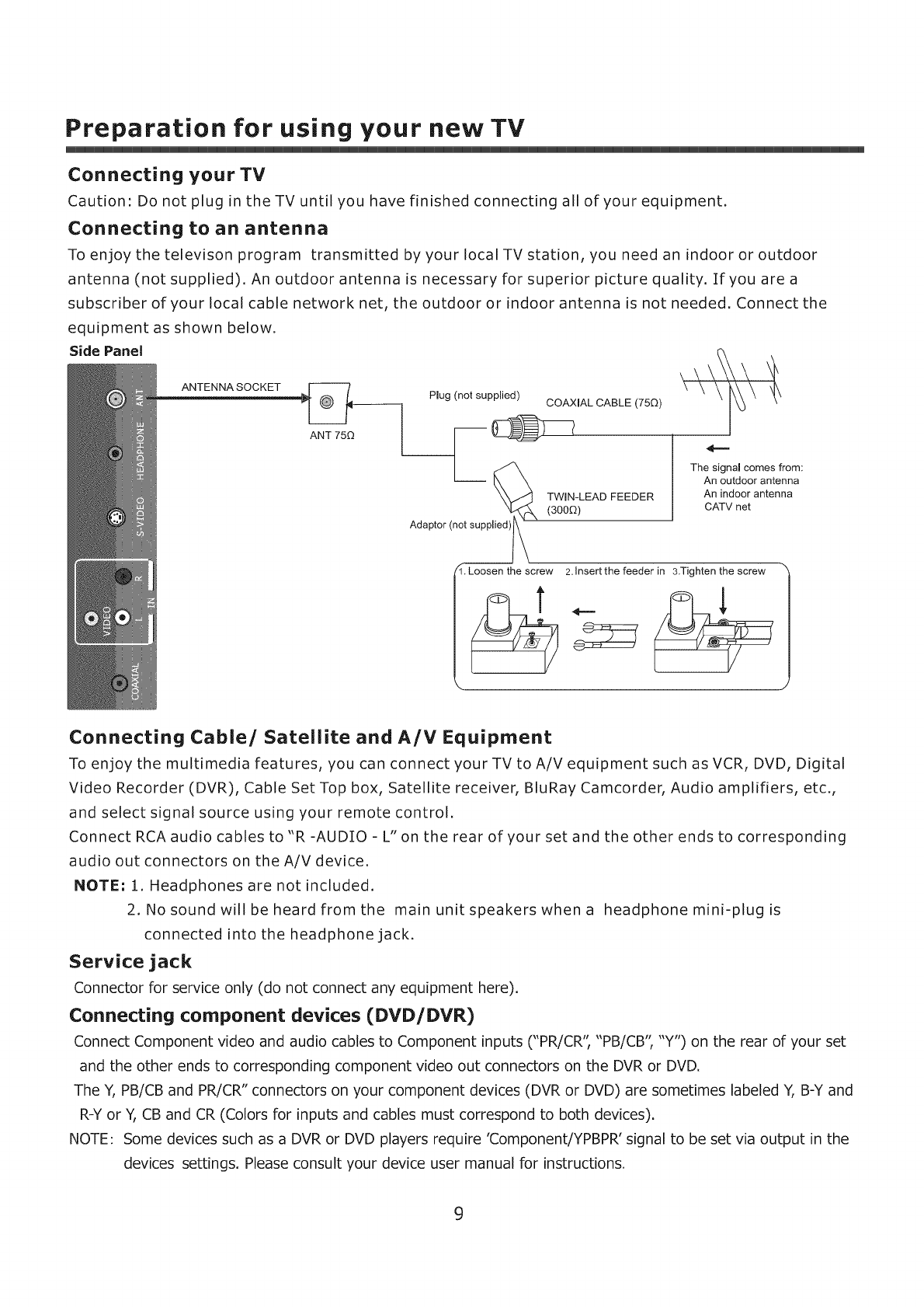 Page 10 of ProScan Flat Panel Television 32LC30S60 User Guide ...