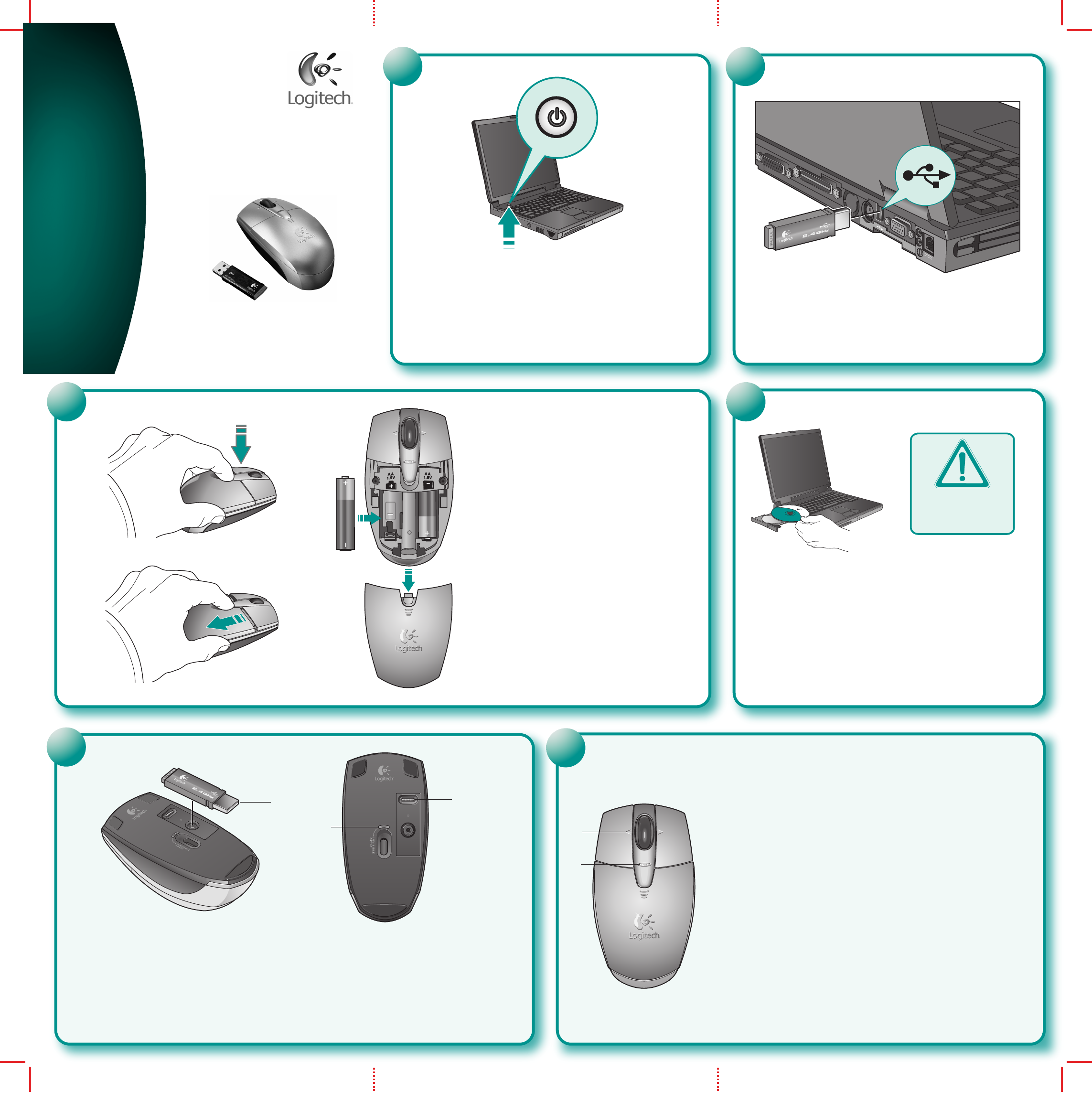 logitech cordless mouse and keyboard receiver instructions