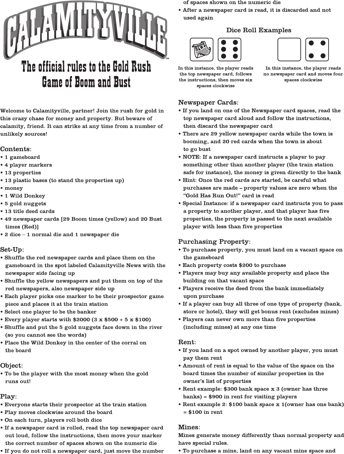Board Game Instruction Manual Template Daily Instruction Manual
