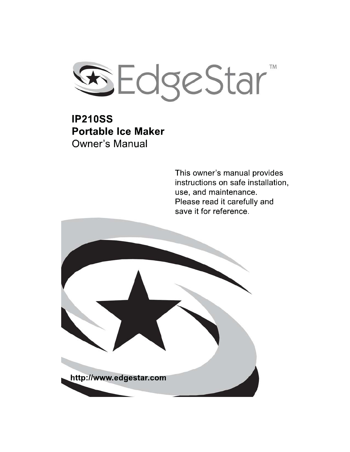 edgestar ice maker ip210ss user guide manualsonline com rh kitchen manualsonline com edgestar ib120ss owners manual edgestar washer dryer combo owners manual