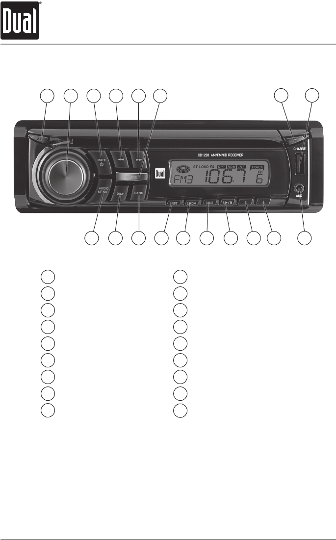 Page 4 Of Dual Car Stereo System Xd1228 User Guide