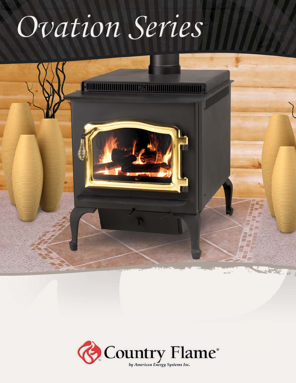 Country flame wood stove insert - Insert Height