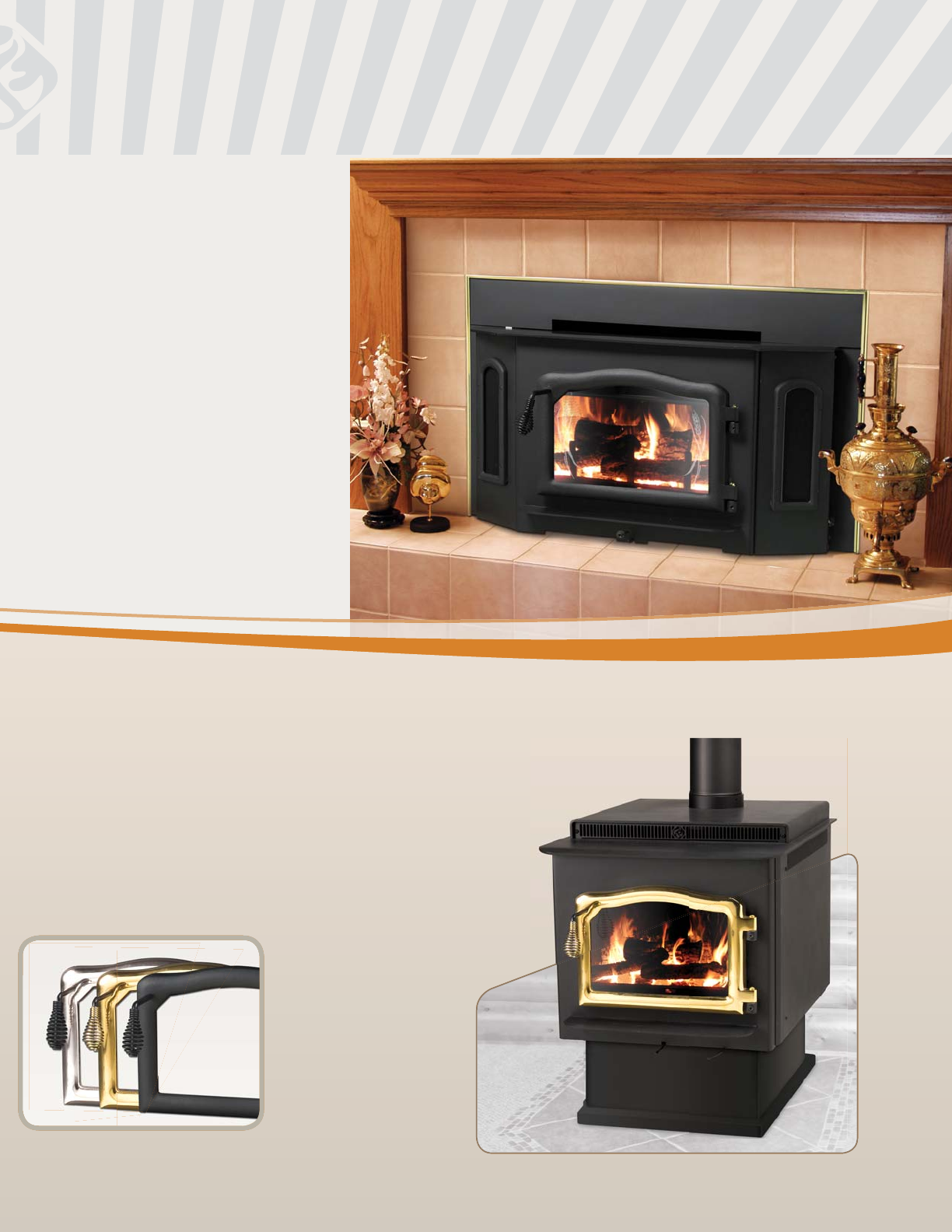 Country flame wood stove insert - Ovation Series Non Catalytic Wood Burning Appliances Ovation Bay Flame Insert Country