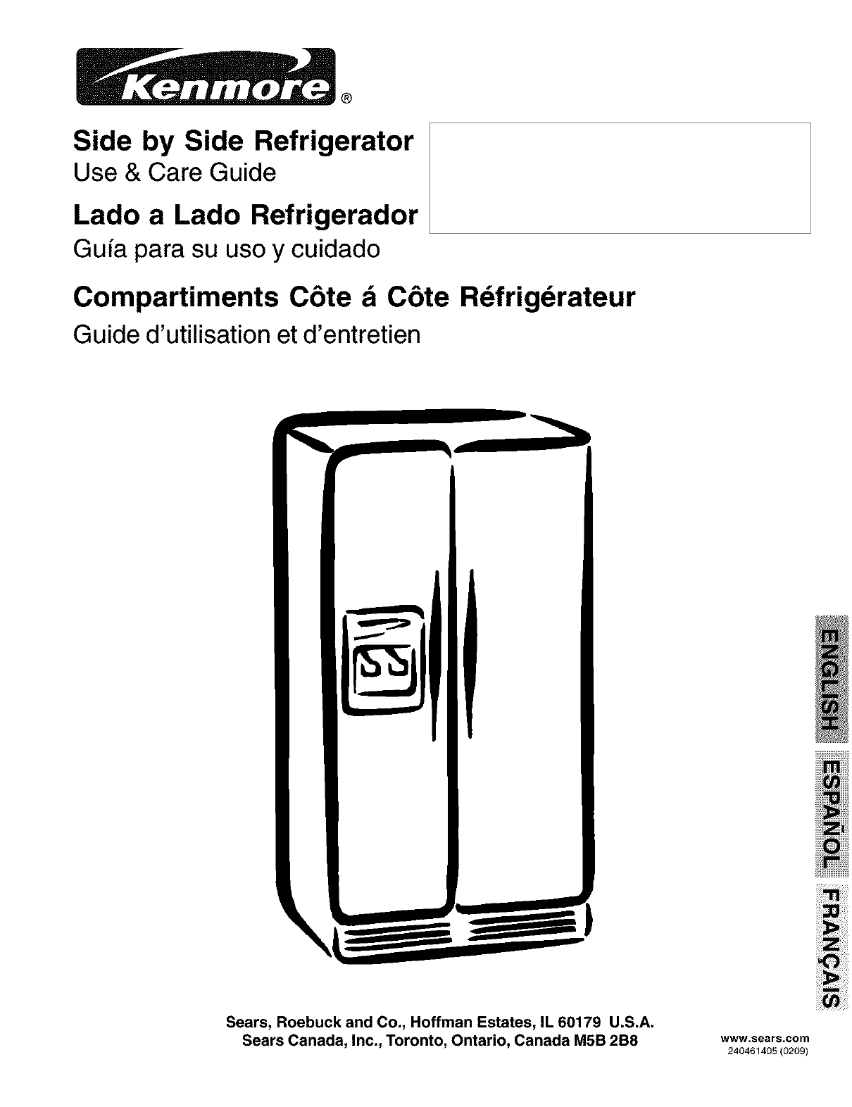 kenmore side by side refrigerator manual image refrigerator rh nabateans org Kenmore Refrigerator Owner's Manual Kenmore Refrigerator Owner's Manual