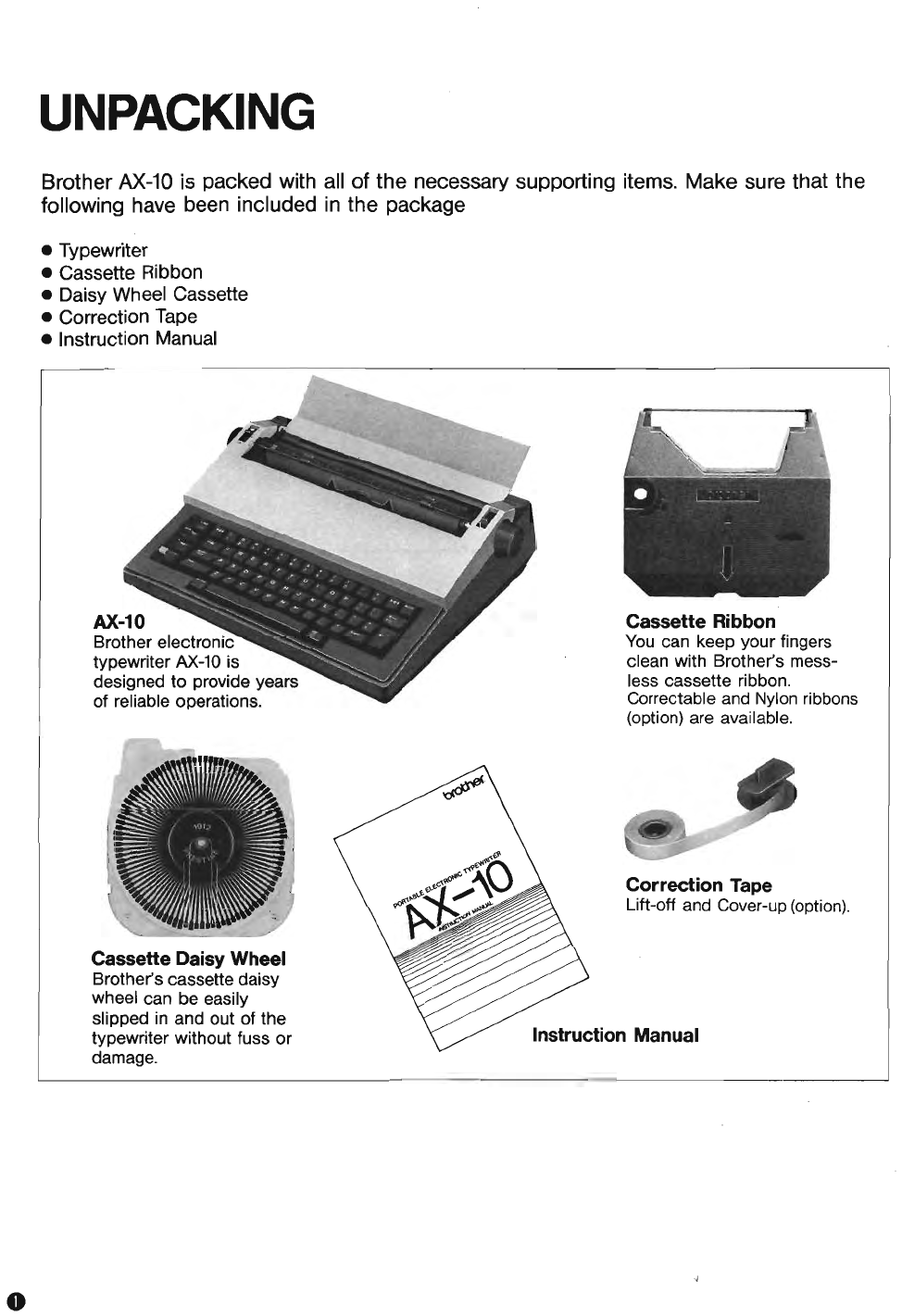 Page 2 Of Brother Typewriter Ax