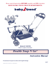 free baby trend stroller user manuals manualsonline com rh babycare manualsonline com baby trend double stroller manual baby trend velocity stroller manual