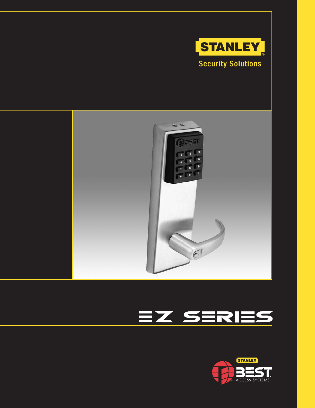 Stanley Black Amp Decker Door Keypad Ez Locks User Guide