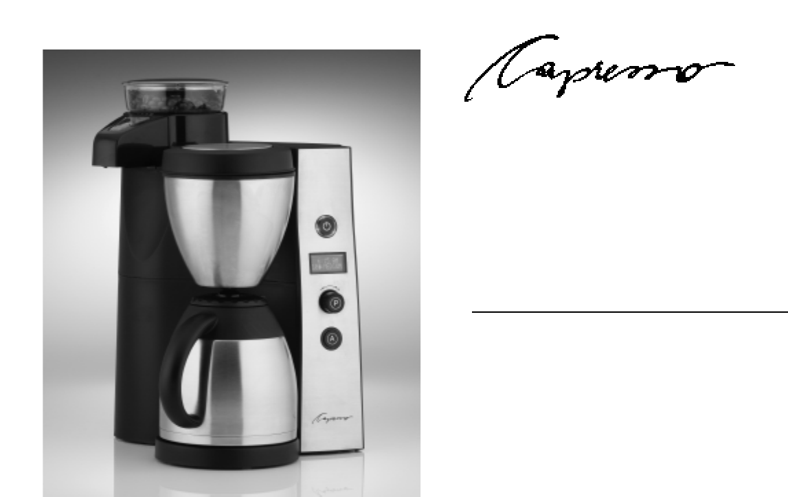 Capresso Coffee Maker Instructions : Capresso Coffeemaker Model #455 User Guide ManualsOnline.com