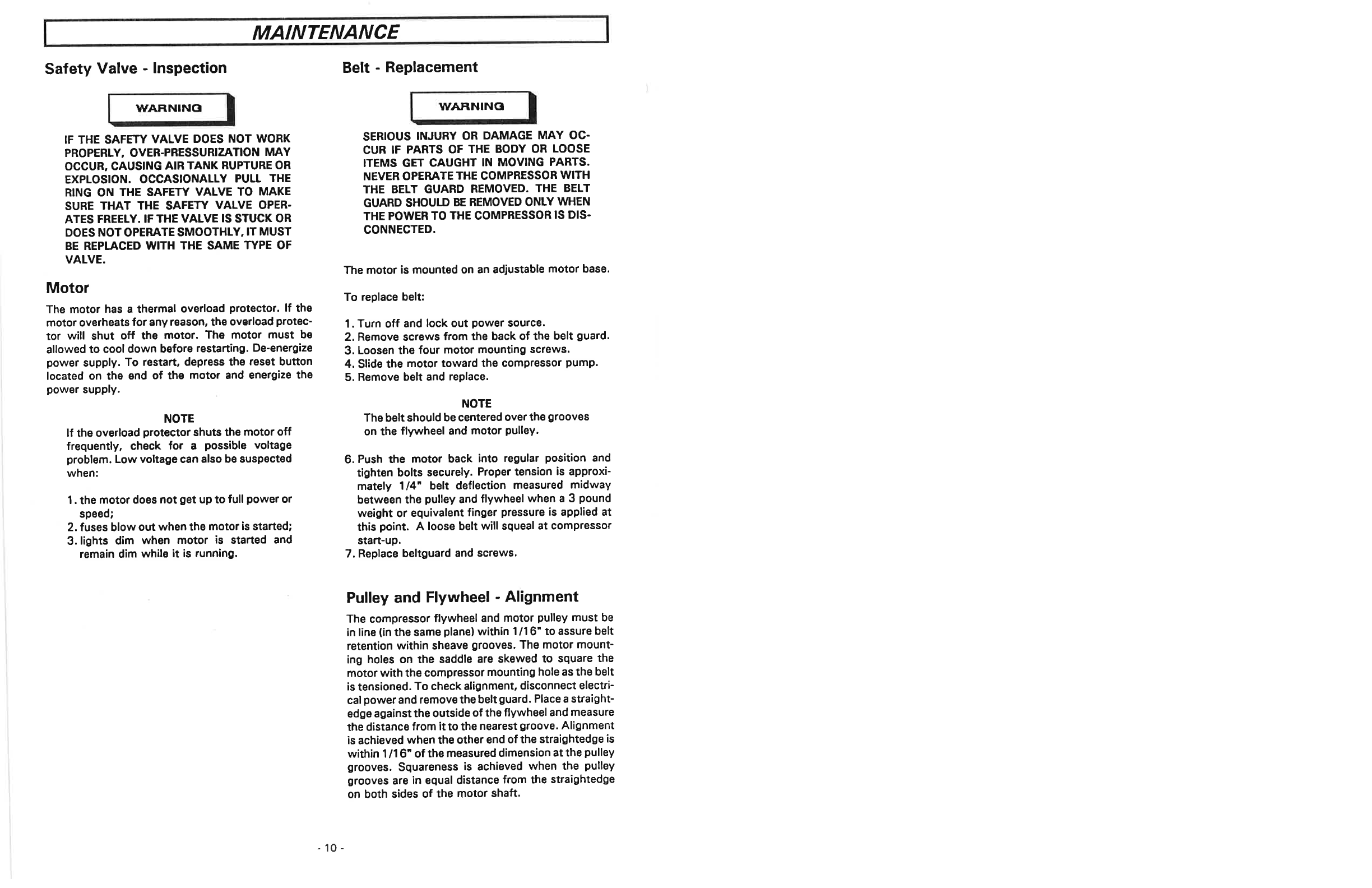 Page 10 of Sears Air Compressor 919 72197 User Guide