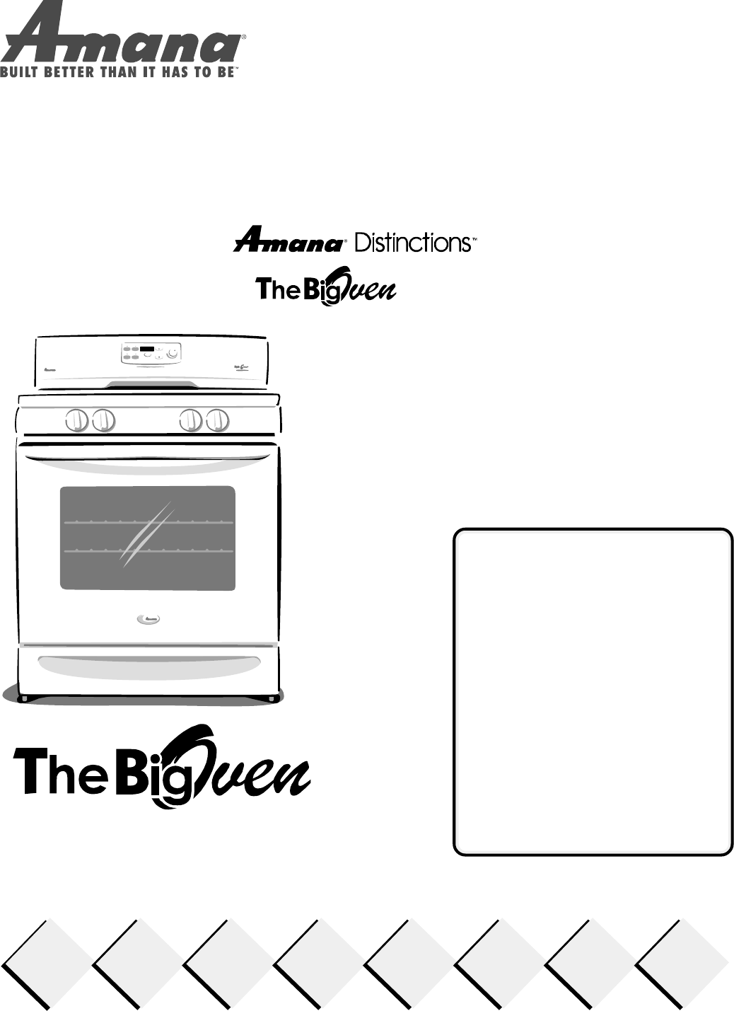 amana oven acf3325a user guide manualsonline com rh kitchen manualsonline com amana washer owners manuals online amana washer service manual
