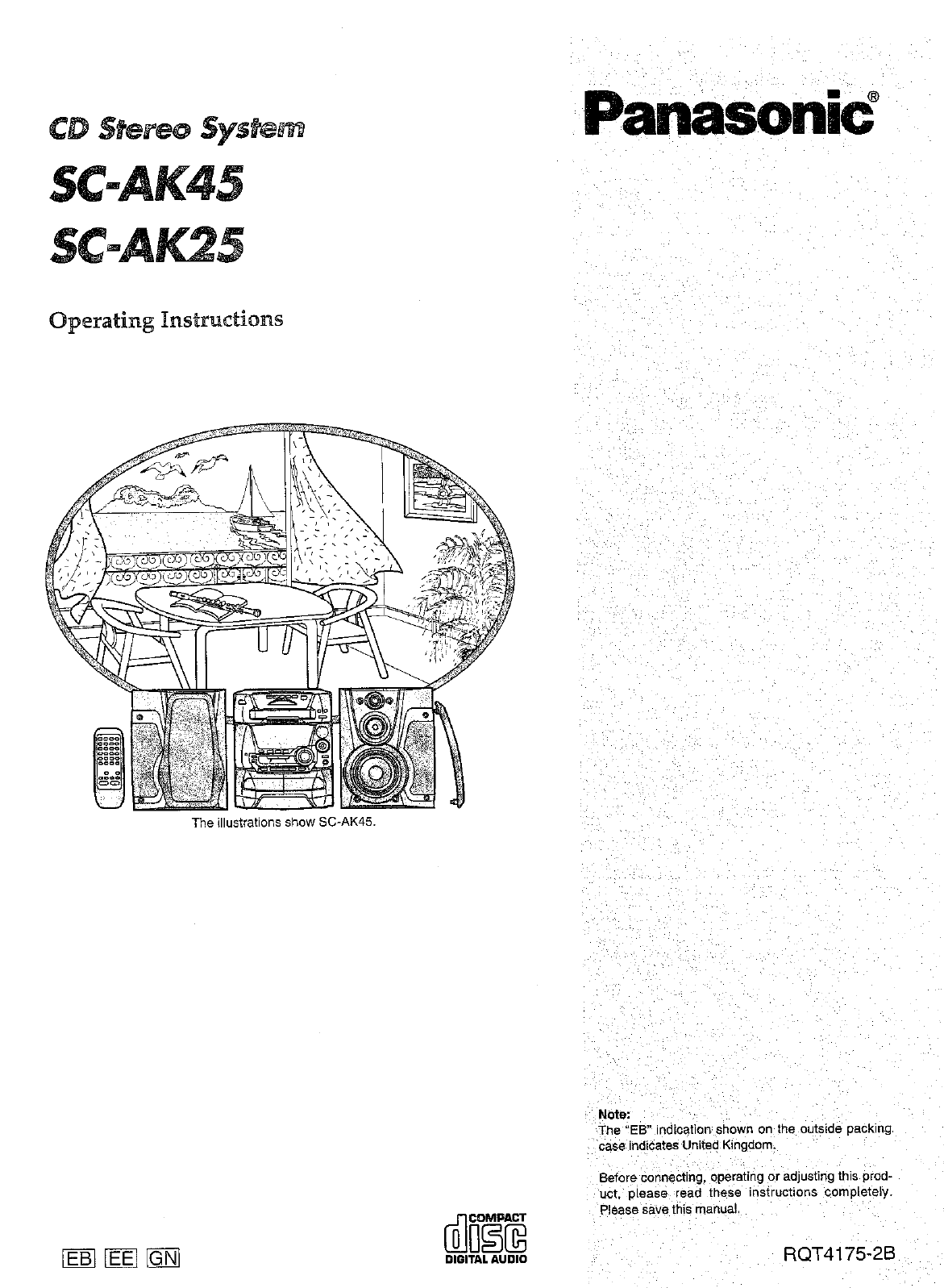 panasonic sa ak29 user manual