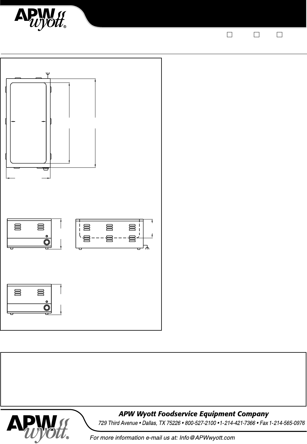 Page 2 Of Apw Wyott Food Warmer Cw 3a User Guide Manualsonlinecom Wiring Diagrams Manual