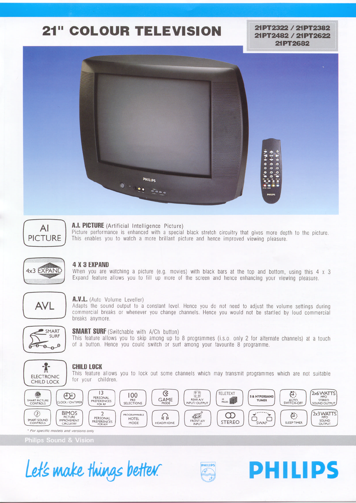 philips crt television 21pt2622 user guide manualsonline com rh tv manualsonline com Philips TV Problems Philips TV Troubleshooting