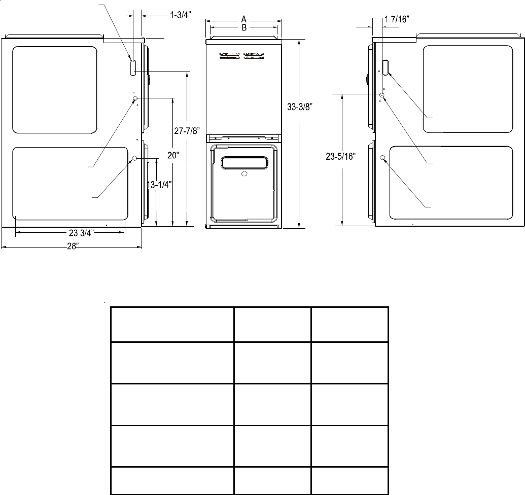 goodman boilers. gas furnace dimensionsfurnace hot water heater closet location and size goodman boilers