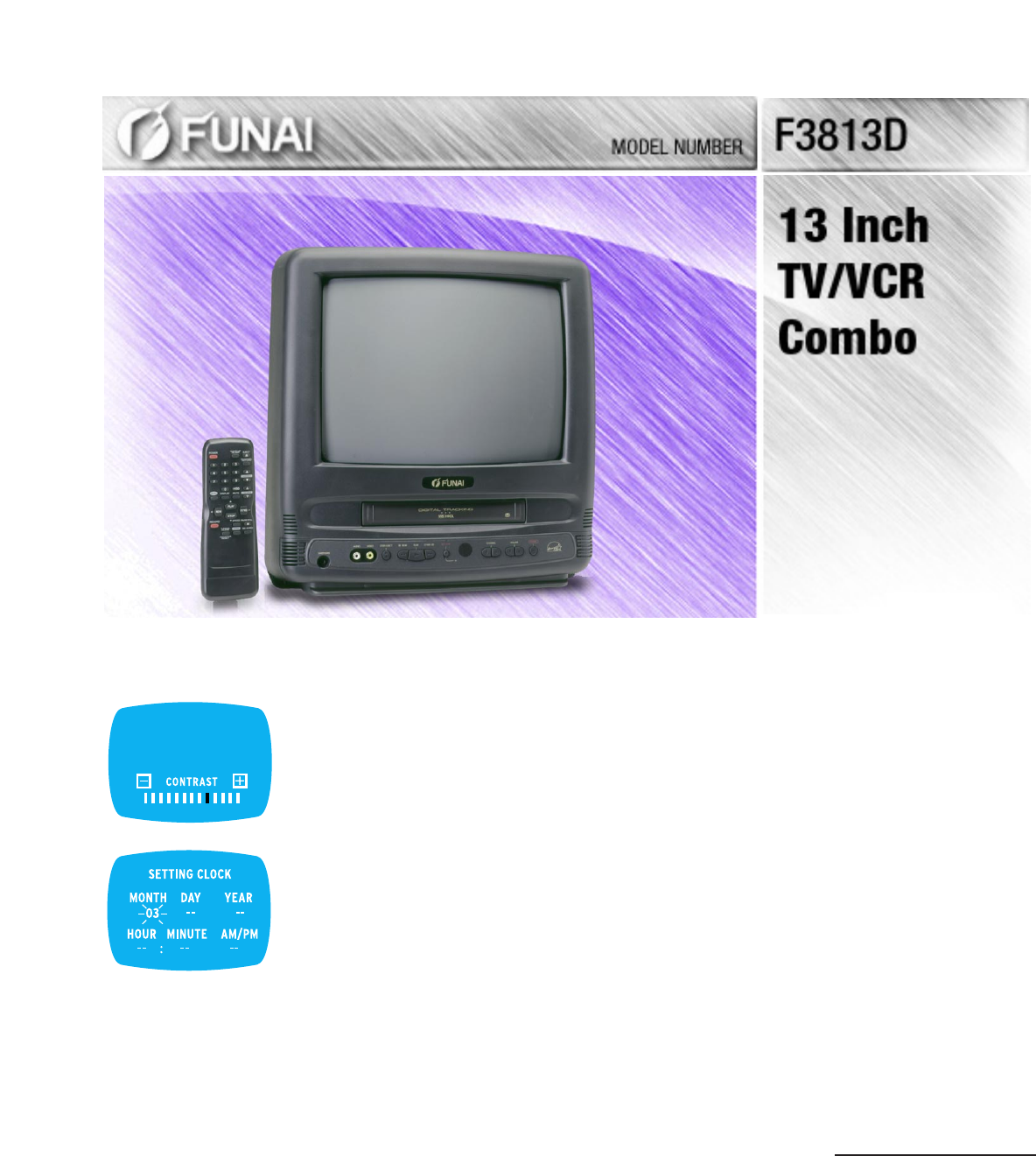 funai tv vcr combo f3813d user guide manualsonline com rh tv manualsonline com