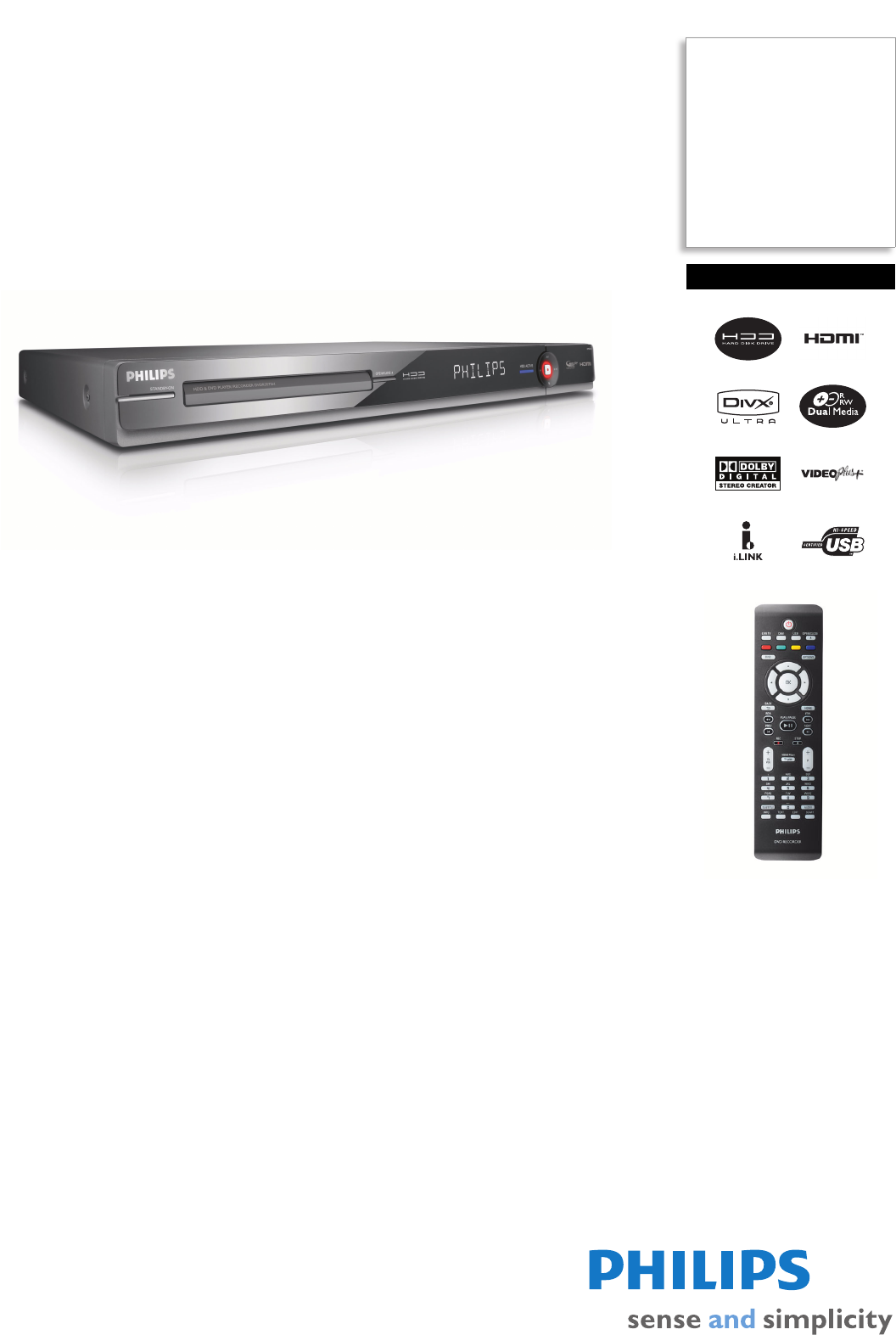 philips dvd recorder dvdr3575h 05 user guide manualsonline com rh tv manualsonline com philips hdd dvd player recorder dvdr3575h manual Philips DVD Recorder Hard Drive