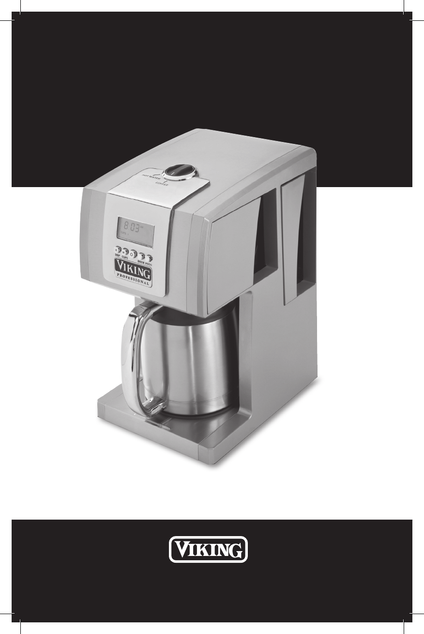 Kitchenaid Coffee Maker Operating Manual : KitchenAid Coffeemaker VCCM12 User Guide ManualsOnline.com