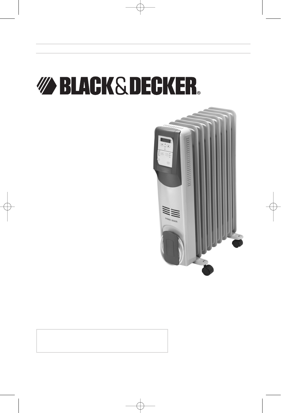 black & decker electric heater bdoh200 user guide | manualsonline