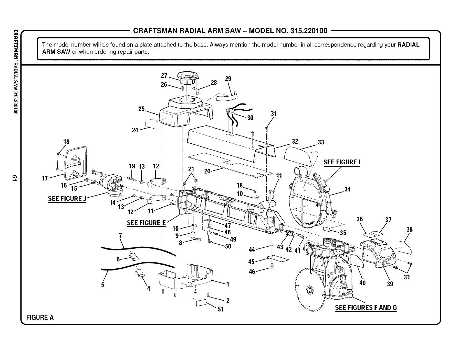 Page 64 Of Sears Saw 315 220100 User Guide