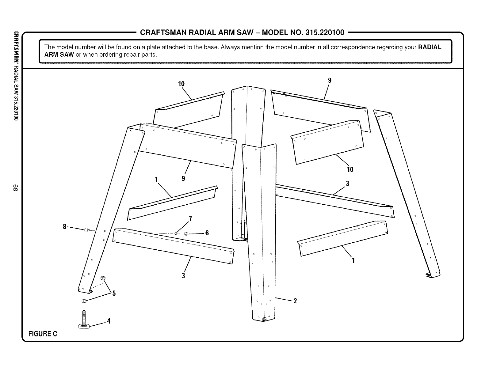 Page 68 Of Sears Saw 315 220100 User Guide