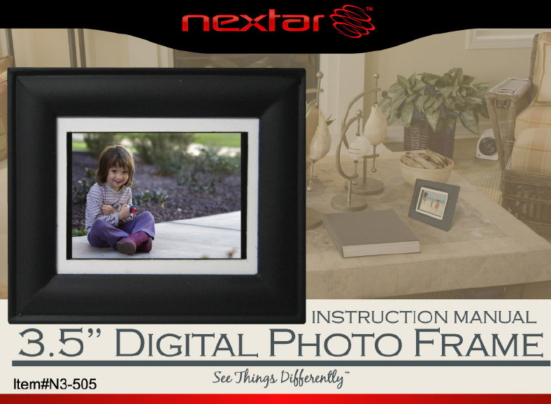 Nextar Digital Photo Frame N3-505 User Guide | ManualsOnline.com
