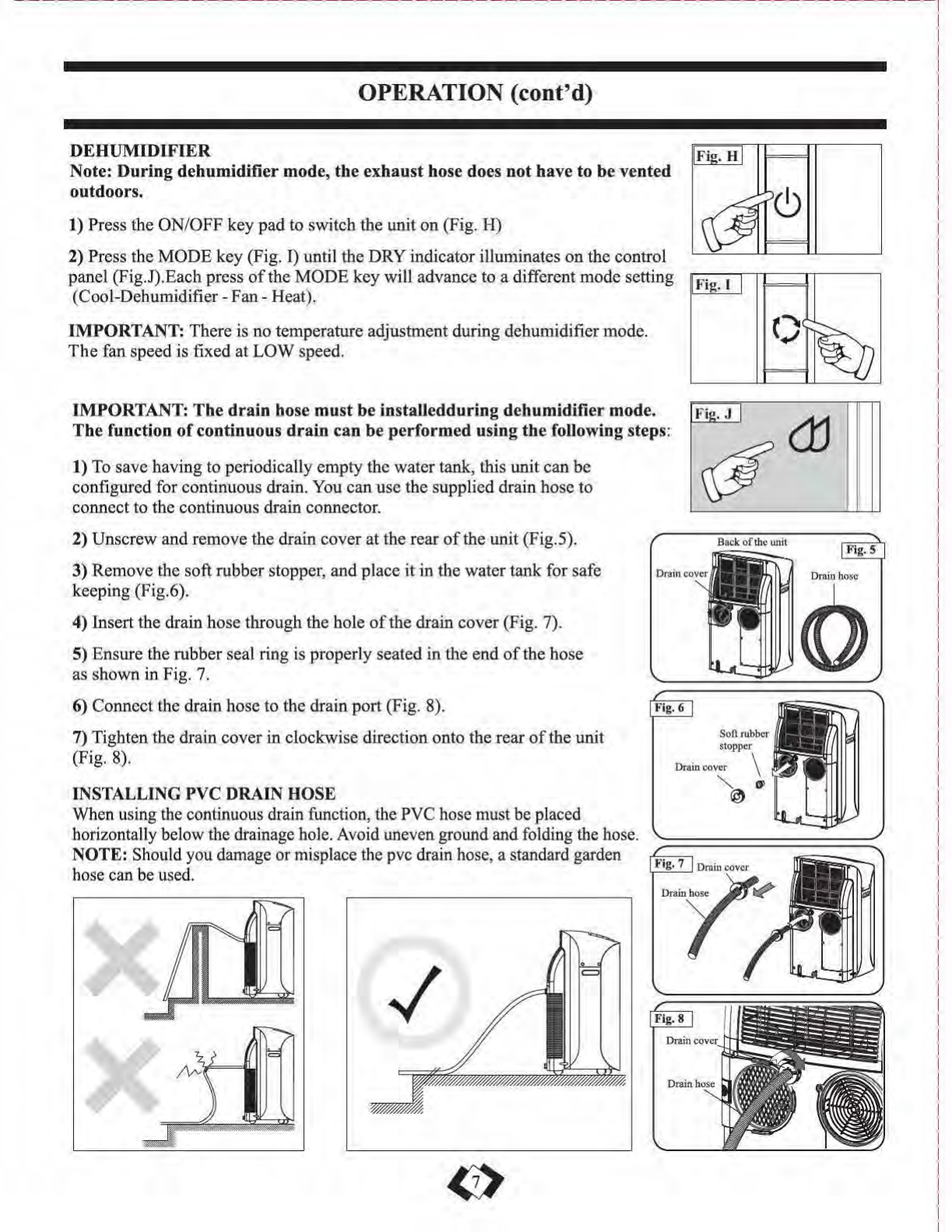 Page 8 of Danby Air Conditioner DPA110DHA1CP User Guide