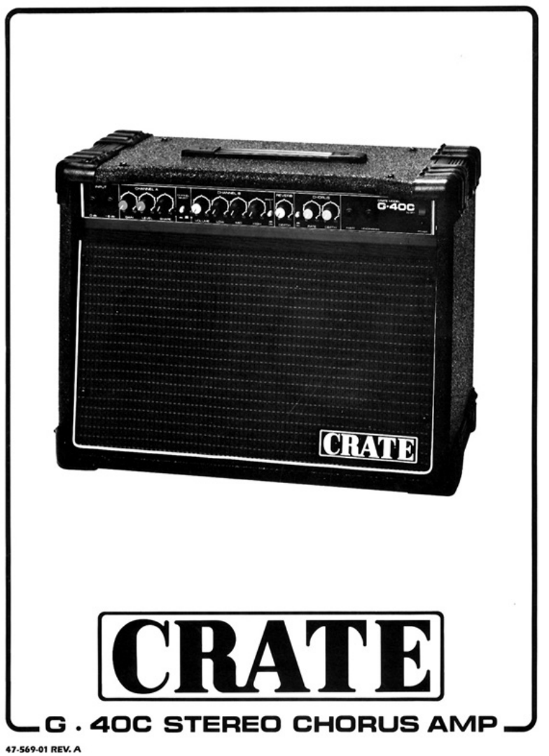 crate amplifiers stereo amplifier g40c user guide manualsonline com rh audio manualsonline com Crate Amps Discontinued Vintage Crate Amps