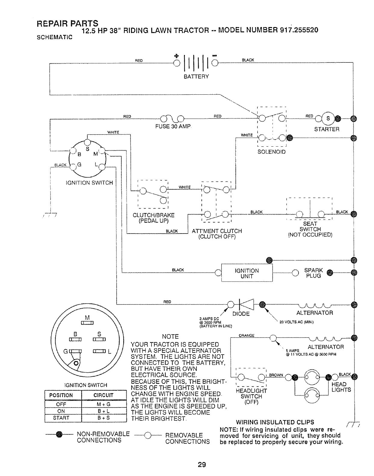 917254630 Craftsman Wiring Diagram Model Related Keywords 917 273761 Page 29 Of Lawn Mower 91725552 User Guide