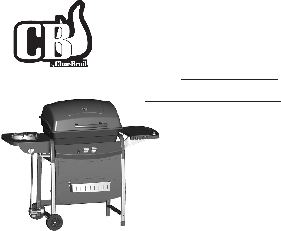 Char-Broil Gas Grill 463722413 User Guide | ManualsOnline.com