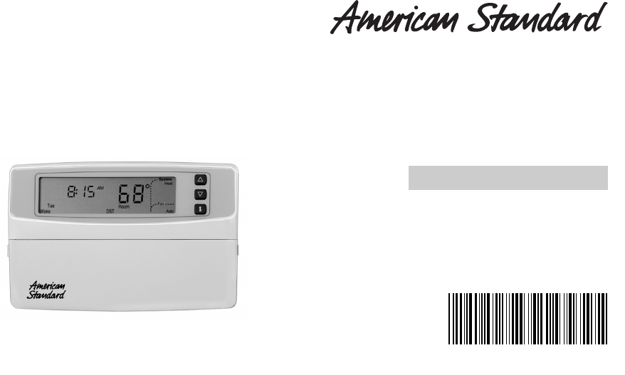 american standard thermostat asystat500c user guide manualsonline com rh homeappliance manualsonline com American Standard Furnace Troubleshooting American Standard Thermostat Manuals