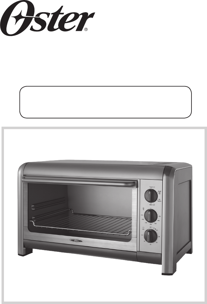 Oster Countertop Oven Manual : Oster Oven 128263 User Guide ManualsOnline.com