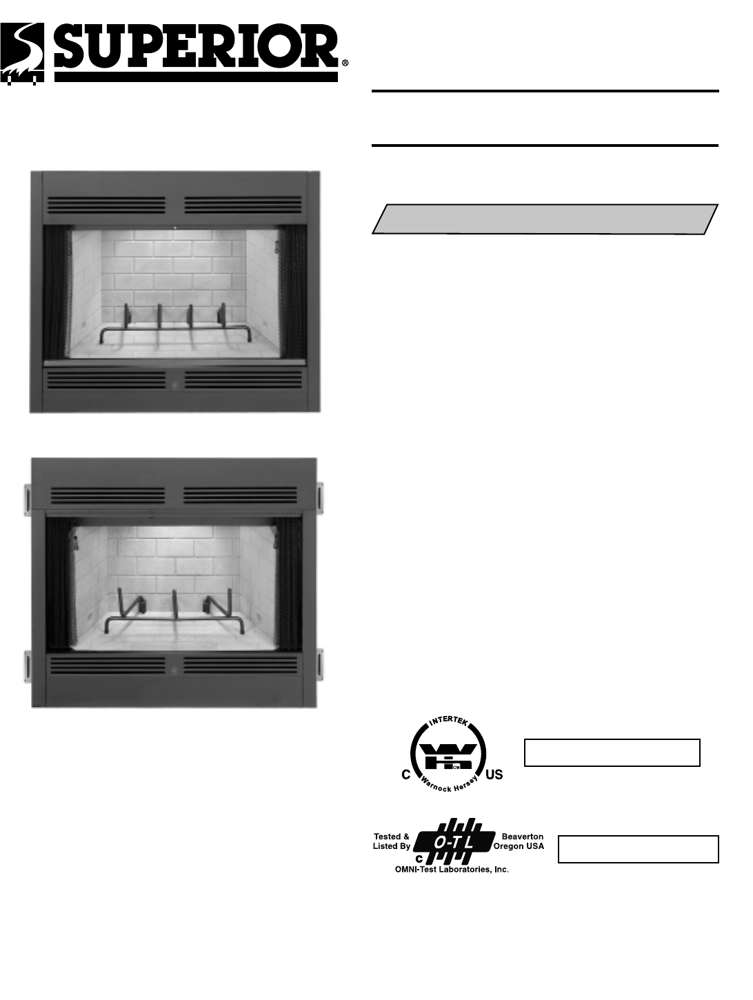 Lennox Hearth Indoor Fireplace BR 36 42 2 User Guide