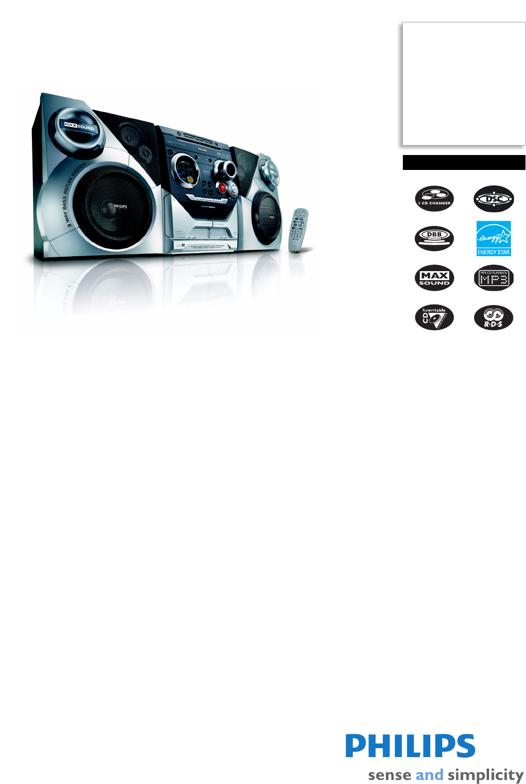 philips stereo system fwm37 user guide manualsonline com rh manualsonline com Philips Electronics Manuals Philips Ultrasound User Manuals